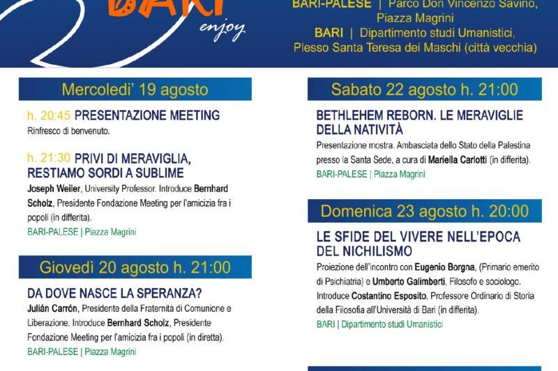 CICLO DI INCONTRI SERALI IN PIAZZA MAGRINI – @MEETING RIMINI 2020